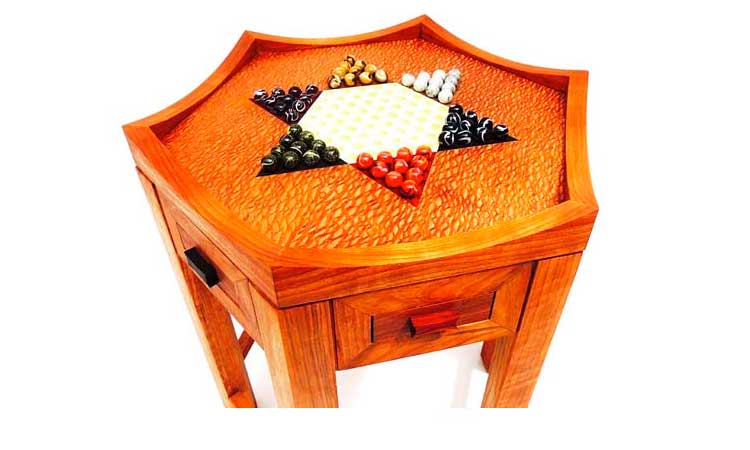 A Chinese checker table